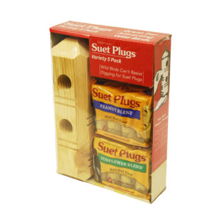 Suet Plug Combo Pack for wild birds
