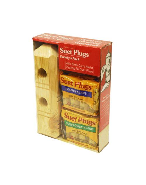 Suet Plug Combo Pack for wild birds