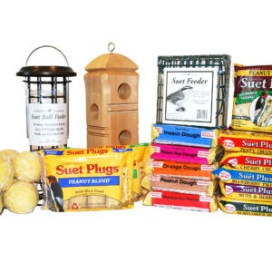 Ultimate 30-pack of suet cakes suet feeders suet balls and suet plugs